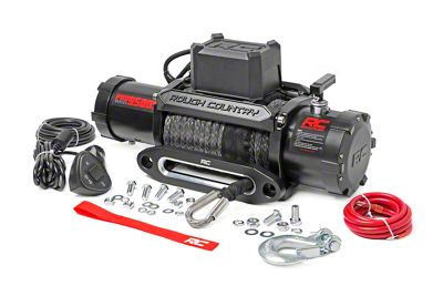Rough Country PRO Series 9,500 lb. Winch w/ Synthetic Rope