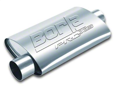 Borla Pro XS Center/Offset Oval Muffler - 2.25 in. (Universal Fitment)