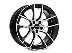 Black Machined Magnetic Style Wheels<br />('15-'21 Mustang)