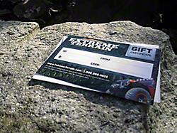 Gift Cards<br />('87-'95 Wrangler)